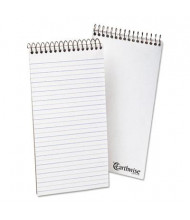 """Ampad Earthwise 4"""" x 8"""" 70-Sheet Pitman Rule Recycled Notepad, White Paper"""