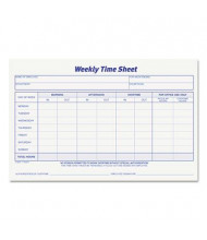 """TOPS 8-1/2"""" x 5-1/2"""" 2-Pack Weekly Time Sheet Form, 100-Forms"""