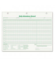 """TOPS 8-1/2"""" x 11"""" Daily Attendance Card, 50-Forms"""