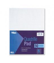 "TOPS 8-1/2"" X 11"", 50-Sheet, 5 Sq. Quadrille Rule Pad"