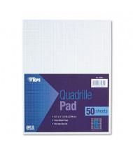 "TOPS 8-1/2"" X 11"", 50-Sheet, 8 Sq. Quadrille Rule Pad"