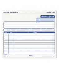 """TOPS 8-1/2"""" x 7"""" 3-Part Snap-Off Shipper Packing List, 50-Forms"""