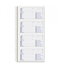 """TOPS 5"""" x 2-3/4"""" 50-Page 2-Part Spiralbound Message Book, 200-Forms"""