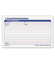 """TOPS 6-1/4"""" x 4-1/4"""" 50-Page 2-Part Avoid Verbal Orders Manifold Book"""