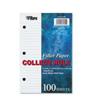 """TOPS 5-1/2"""" x 8-1/2"""", 100-Sheets, College Rule Filler Paper"""