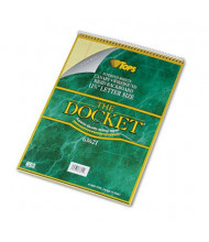 """TOPS 8-1/2"""" X 11-3/4"""" 70-Sheet Legal Rule Notepad With Cover, Canary Paper"""