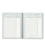 """TOPS 6-3/4"""" X 8-1/2"""" 70-Sheet Project Planner, Black Cover"""