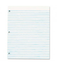 """TOPS 8-1/2"""" X 11"""" 50-Sheet 12-Pack 3-Hole Punch Legal Rule Pads, White Paper"""