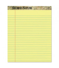"""TOPS 8-1/2"""" X 11-3/4"""" 50-Sheet 12-Pack Letter Rule Perforated Pads, Canary Paper"""