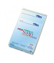"""TOPS Prism 6"""" X 9"""" 80-Sheet 4-Pack Gregg Rule Steno Notepads, Blue Paper"""