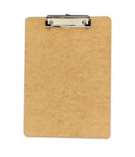"Universal 1/2"" Capacity 8-1/2"" x 12"" 6-Pack Low-Profile Recycled Clipboard, Brown"