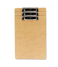 "Universal 1/2"" Capacity 8-1/2"" x 14"" 3-Pack Low-Profile Recycled Clipboard, Brown"