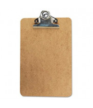 "Universal 1"" Capacity 6"" x 9"" High-Capacity Recycled Clipboard, Brown"