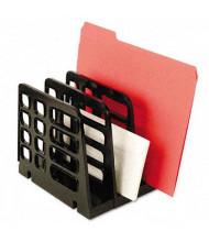 Universal 3-Section Plastic Vertical Add-On Sorter, Black