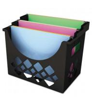 """Universal 8-1/2"""" D Letter Recycled Desktop File Holder, Black"""