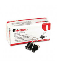 "Universal 1/4"" Capacity Steel Wire Mini Binder Clips, 12/Box"