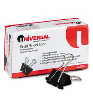 """Universal 3/8"""" Capacity Steel Wire Small Binder Clips, 12/Box"""