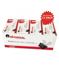 """Universal 3/8"""" Capacity Steel Wire Small Binder Clips, 144-Binder Clips"""