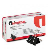 "Universal 5/8"" Capacity Steel Wire Medium Binder Clips, 12/Box"