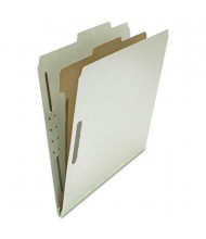 Universal 4-Section Letter 25-Point Pressboard Classification Folders, Gray, 10/Box
