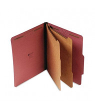 Universal 6-Section Letter 25-Point Pressboard Classification Folders, Red, 10/Box
