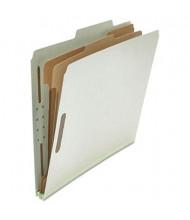 Universal 6-Section Letter 25-Point Pressboard Classification Folders, Gray, 10/Box