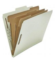 Universal 8-Section Letter 25-Point Pressboard Classification Folders, Gray, 10/Box
