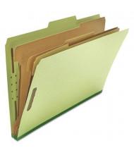 Universal 8-Section Legal 25-Point Pressboard Classification Folders, Green, 10/Box