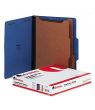 Universal 6-Section Letter 25-Point Pressboard Classification Folders, Cobalt Blue, 10/Box