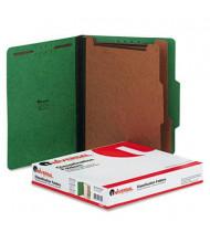 Universal 6-Section Letter 25-Point Pressboard Classification Folders, Emerald Green, 10/Box