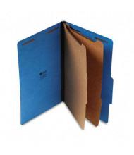 Universal 6-Section Legal 25-Point Pressboard Classification Folders, Cobalt Blue, 10/Box