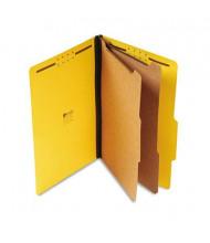 Universal 6-Section Legal 25-Point Pressboard Classification Folders, Yellow, 10/Box