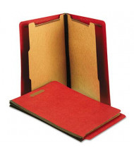 Universal 6-Section Letter 25-Point Pressboard Classification Folders, Bright Red, 10/Box