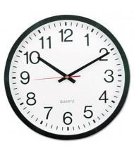 "Universal 12.5"" Round Wall Clock, Black"