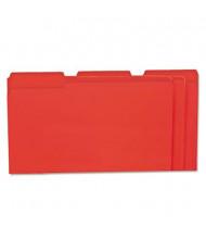 Universal One 1/3 Cut Tab Legal File Folder, Red, 100/Box