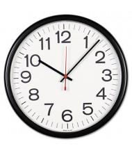 """Universal 13.5"""" Indoor/Outdoor Wall Clock, Black"""