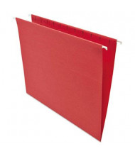 Universal One 1/5 Tab Letter Hanging File Folder, Red, 25/Box