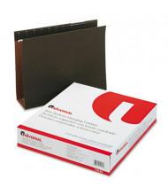 "Universal Letter 3"" Expanding Box Bottom Hanging File, Green, 25/Box"
