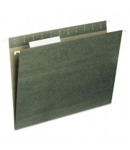 Universal Recycled 1/5 Tab Legal Hanging File Folders, Green, 25/Box