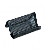 "Universal One Mesh Metal Business Card Holder, Holds 50 2 1/4"" x 4"" Cards, Black"
