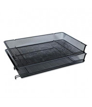 Universal One Two-Tier Mesh Stackable Side-Load Legal Tray, Black