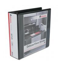 "Universal 3"" Capacity 8-1/2"" x 11"" Round Ring Deluxe View Binder, Black"