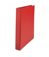 """Universal One 1"""" Capacity 8-1/2"""" x 11"""" Straight Ring Non-View Binder, Red"""
