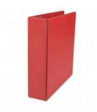 "Universal One 2"" Capacity 8-1/2"" x 11"" Straight Ring Non-View Binder, Red"