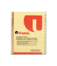 Universal One Letter 12-Month Plastic-Coated Tab Index Dividers, Buff, 1 Set