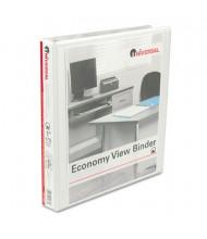 """Universal 1"""" Capacity 8-1/2"""" x 11"""" Round Ring Economy View Binder, White"""