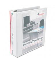 """Universal 2"""" Capacity 8-1/2"""" x 11"""" Round Ring Economy View Binder, White"""