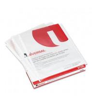 "Universal 8-1/2"" x 11"" Top-Load Non-Glare Poly Sheet Protectors, 50/Box"