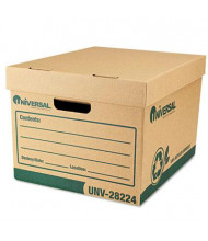 """Universal One 12"""" x 15"""" x 10"""" Letter Recycled Record Storage Boxes, 12/Carton"""