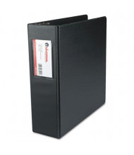 "Universal 3"" Capacity 8-1/2"" x 11"" Round Ring with Label Holder Non-View Binder, Black"